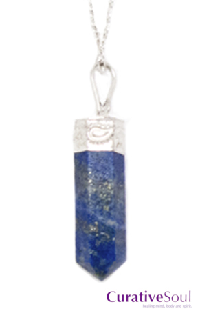 Lapis Lazuli Crystal Point Necklace