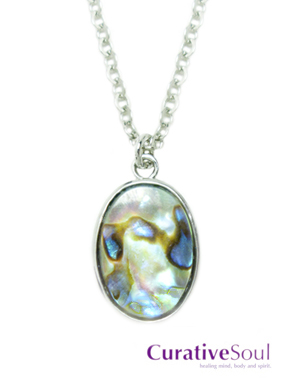 Oval Abalone Shell Necklace