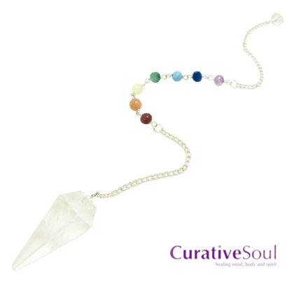 Quartz Crystal Chakra Healing Pendulum - Click Image to Close
