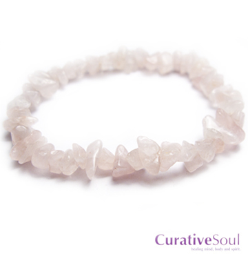 Rose Quartz Stone Chip Stretch Bracelet